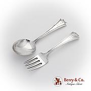 Fairfax Baby Fork Spoon Set Gorham Sterling Silver Pat 1910