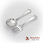 Fairfax Baby Fork Spoon Set Gorham Sterling Silver Pat 1910