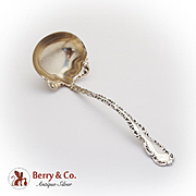 Louis XV Sauce Ladle Gilt Bowl Whiting Sterling Silver Pat 1891