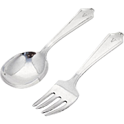 Minuet Baby Spoon Fork Set International Sterling Silver Pat 1925