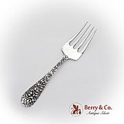 Rose Pattern Baby Fork Stieff Sterling Silver 1940