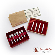 Vintage Miniature Flatware Boxed Set Miniature Toy Co Sterling Silver 1930