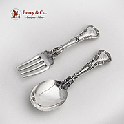 Chantilly Baby Flatware Set Gorham Sterling Silver Pat 1895
