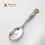 Bridal Rose Teaspoon Alvin Sterling Silver Pat 1903 Monogram