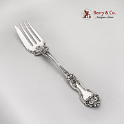 La Reine Cold Meat Serving Fork Wallace Sterling Silver 1921