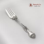 La Reine Cold Meat Serving Fork Wallace Sterling Silver 1921