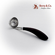 Rosewood Handle Sauce Ladle Sterling Silver 1950 Mexico