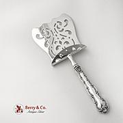 Strasbourg Asparagus Server Pierced Silver Plated Blade Gorham Sterling Silver 1897