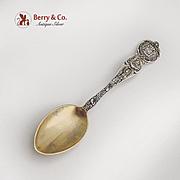 San Francisco Souvenir Spoon Gilt Bowl Watson Sterling Silver 1895