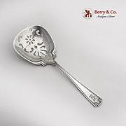 Etruscan Bon Bon Candy Nut Spoon Pierced Bowl Gorham Sterling Silver Pat 1913