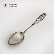 PPIE Official Souvenir Spoon Figural Handle Robbins Co Sterling Silver 1915