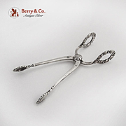 Lily Of The Valley Sugar Tongs Nips Georg Jensen Sterling Silver 1930