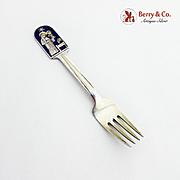 Christmas Fork 1934 Michelsen Sterling Silver Enamel