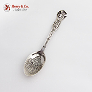Official Louisiana Purchase Exposition Souvenir Spoon Embossed Bowl Sterling Silver
