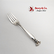 Romance Of The Sea Salad Fork Wallace Sterling Silver 1950