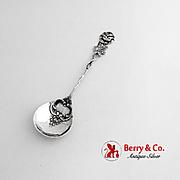 Floral Sugar Spoon Openwork Figural Handle German 800 Silver 1920