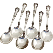 Buttercup Gumbo Chowder Soup Spoons Set Gorham Sterling Silver Pat 1900