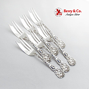 Versailles Large Pie Forks Set Gorham Sterling Silver 1888 Copyrighted