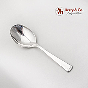 Vintage Plain Design Baby Spoon Sterling Silver 1950