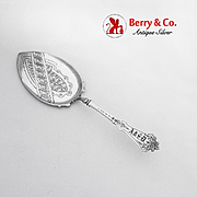 Early Aesthetic Engraved Pie Pastry Server Albert Coles Coin Silver 1860