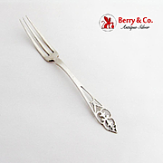 King George Strawberry Fork Watson Co Sterling Silver 1920