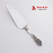 Florentine Lace Pie Knife Server Stainless Blade Reed Barton Sterling Silver 1951