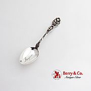 Cupids Nosegay Teaspoon Engraved Bowl Unger Bros Sterling Silver 1904