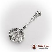 Art Nouveau Poppy Nut Candy Spoon Paye Baker Sterling Silver 1900