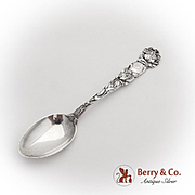 Bridal Rose Coffee Spoon Alvin Sterling Silver 1905 Monogram