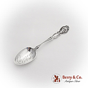 Loves Dream Teaspoon Chicago Engraved Bowl Unger Bros Sterling Silver 1904