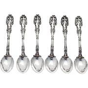 Mythologique Demitasse Spoons Set Gorham Sterling Silver 1894 Mono