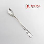 Deerfield Beacon Hill Olive Spoon Long Handle International Sterling Silver 1913