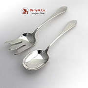 Old Newbury Hand Wrought Salad Serving Set Old Newbury Crafters Sterling Silver