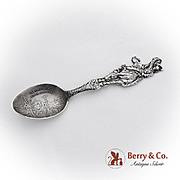 Broncho Rider Souvenir Spoon Embossed Bowl Mayer Bros Sterling Silver