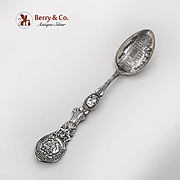 Alaska Yukon Pacific Exposition Souvenir Spoon Embossed Bowl Silverplate 1909