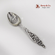 Lily Of the Valley Souvenir Five O Clock Teaspoon Engraved Bowl Sterling Silver
