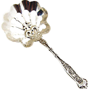 Dresden Nut Spoon Whiting Mfg Co Sterling Silver 1896 Monogram