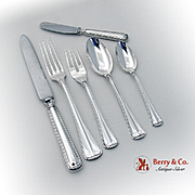 Milano 6 Piece Place Setting Buccellati Sterling Silver 1960 Italy