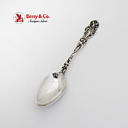 Iris Figural Teaspoon Wallace Sterling Silver Pat 1902 No Mono