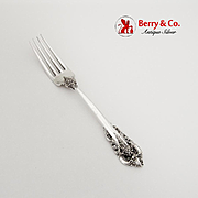 Grande Baroque Dinner Fork Wallace Sterling Silver No Mono