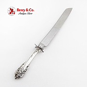 Grande Baroque Wedding Cake Knife Stainless Blade Wallace Sterling Silver 1941