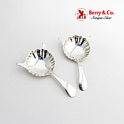 Cafe Royal Diablo Spoons Pair Gorham Sterling Silver 1940