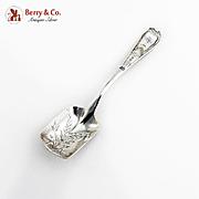 Ornate Shovel Scoop Engraved Floral Bowl Towle Sterling Silver Monogram