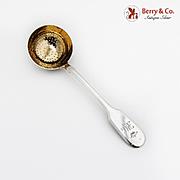 Russian Imperial Period Sugar Sifter Gilt Bowl Grachev Bros 84 Standard Silver 1880