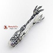 Lily Sugar Tongs Whiting Mfg Co Sterling Silver Pat 1902 No Mono