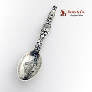 Indian Totem Pole Souvenir Spoon Engraved Bowl Mayer Bros Sterling Silver