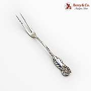 La Reine Strawberry Fork Twist Tines Reed Barton Sterling Silver 1893