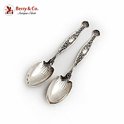 Hyperion Teaspoons Pair Whiting Mfg Co Sterling Silver 1888