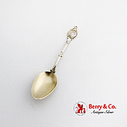 Medallion Demitasse Spoon Gilt Matte Bowl Schulz Fischer Sterling Silver
