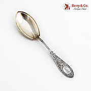 Arabesque Pudding Spoon Gilt Matte Bowl Whiting Mfg Co Sterling Silver